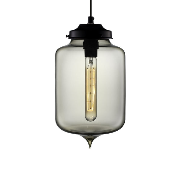 Gray Turret Pendant Light