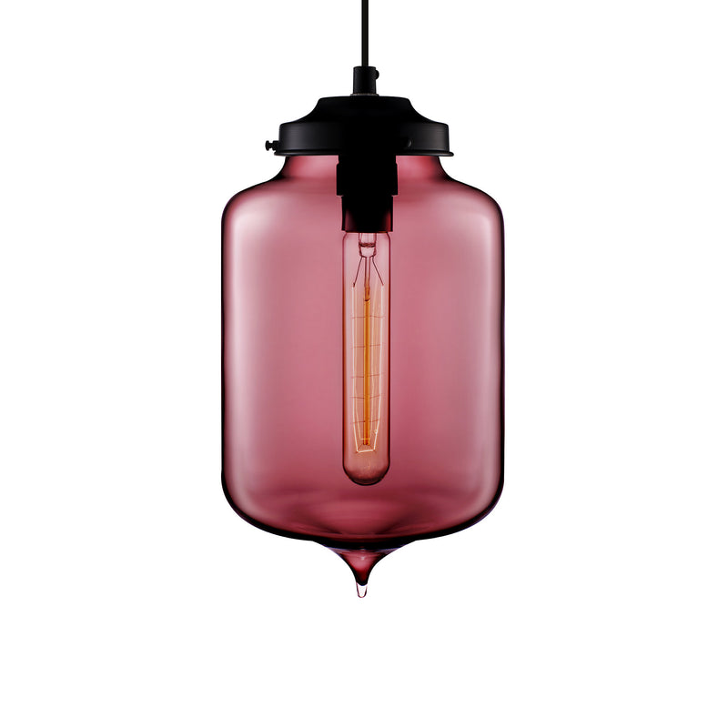 Plum Turret Pendant Light