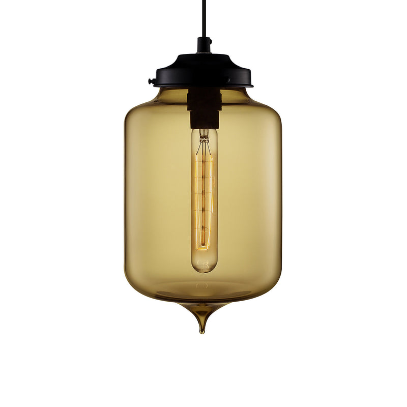 Smoke Turret Pendant Light