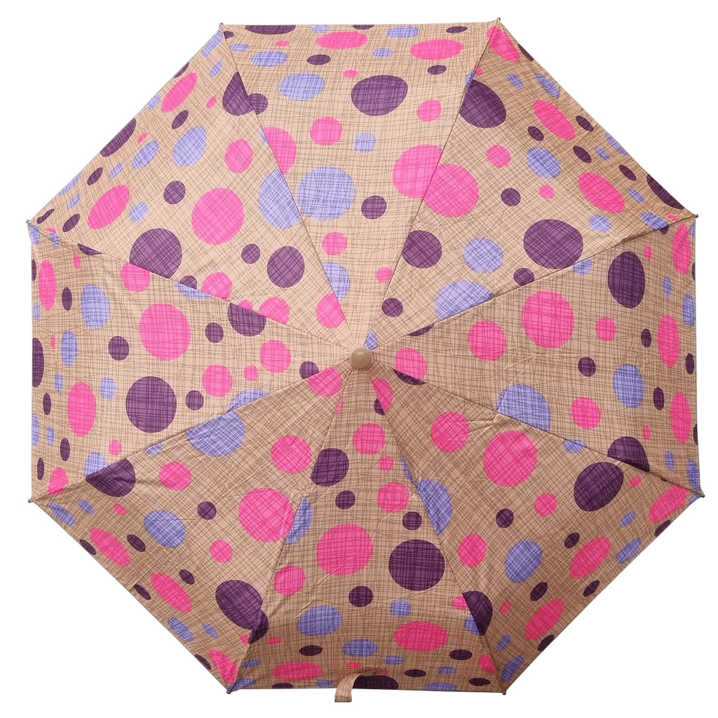 Shelta AOAC Mini Multi Dot Tan Pink Lilac Umbrella