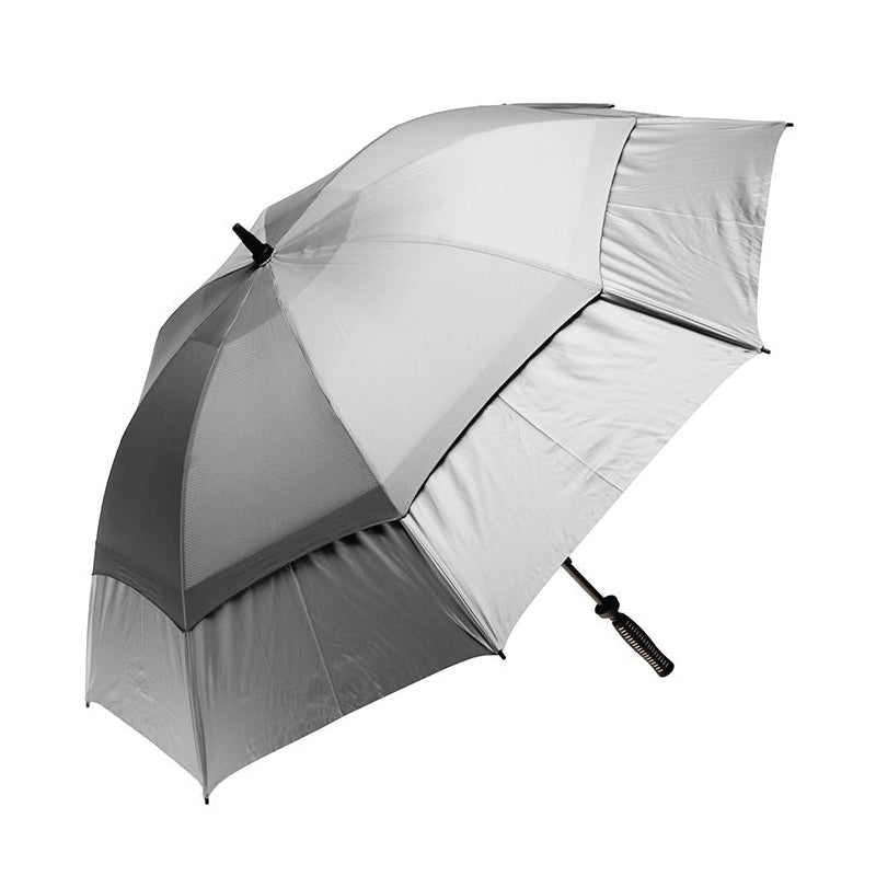 Clifton Hurricane Golf Manual Silver Double Cover Silver Umbrella
