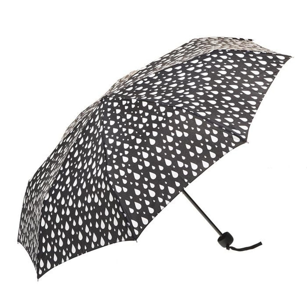 Clifton Compact Manual Black White Series Raindrops