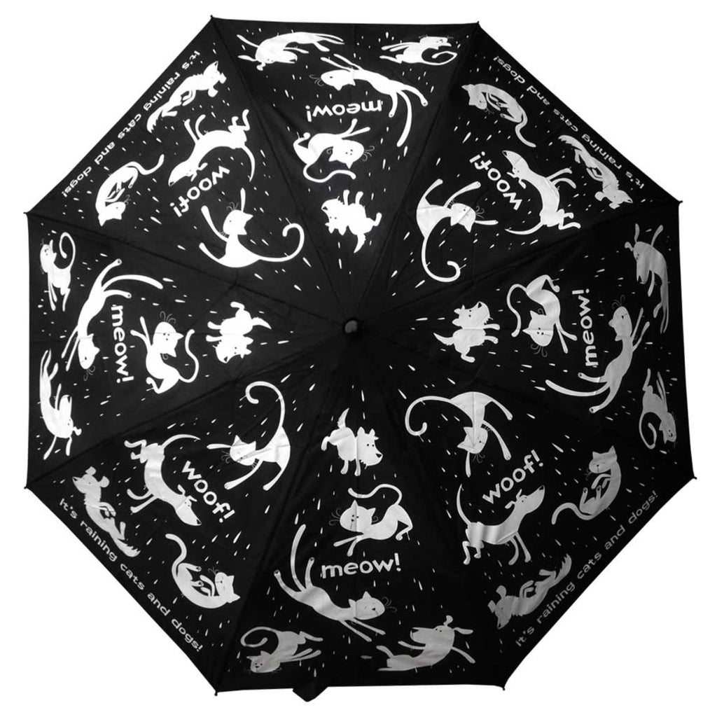 Clifton Compact Manual Black White Series Raining Cats and