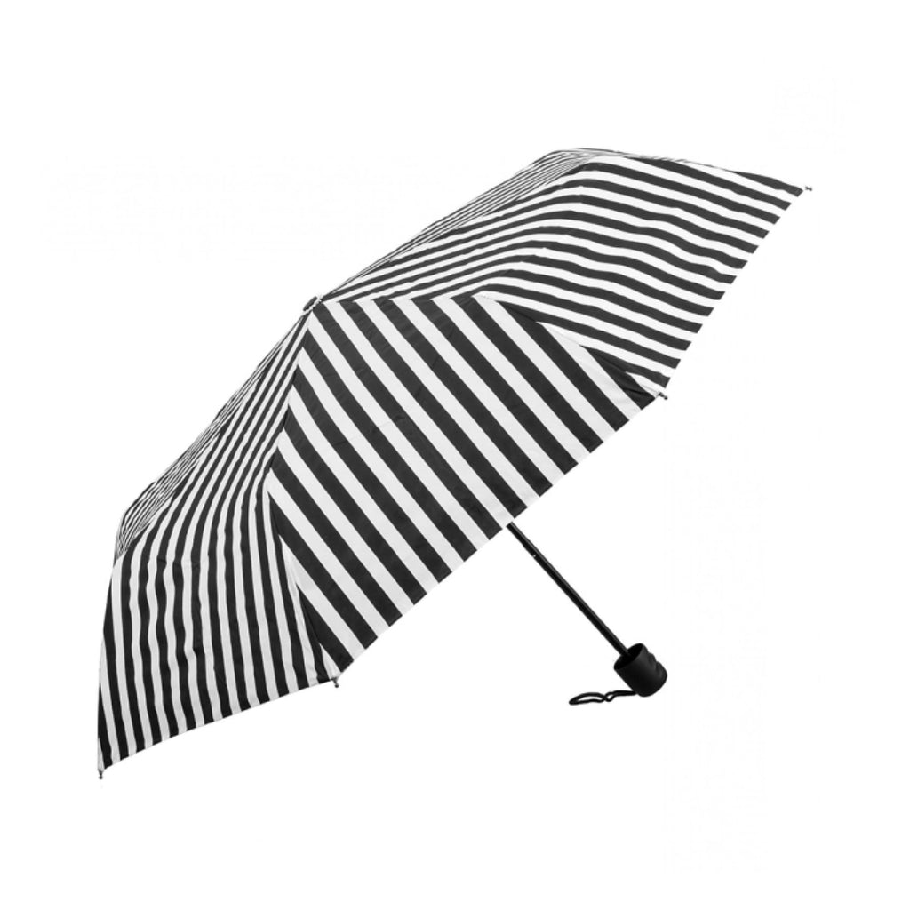 Clifton Compact Manual Black White Series White Stripe Umbrella