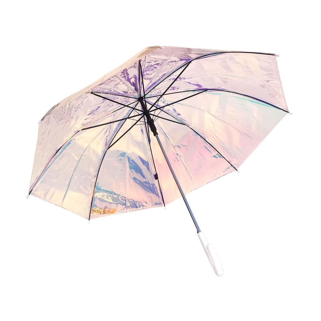 Shelta Auto Long Holographic Iridescent Pearl Umbrella