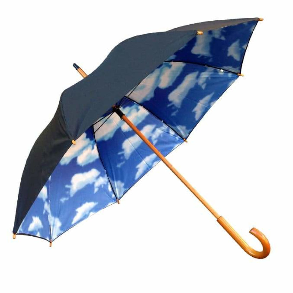 UPF 50+ Willow Tree Big Blue Sky Cloud Print Umbrella.
