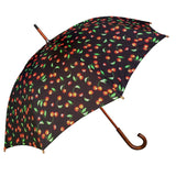 UPF50+ Shelta Manual Timber Double Cover Long Cherries Umbrella