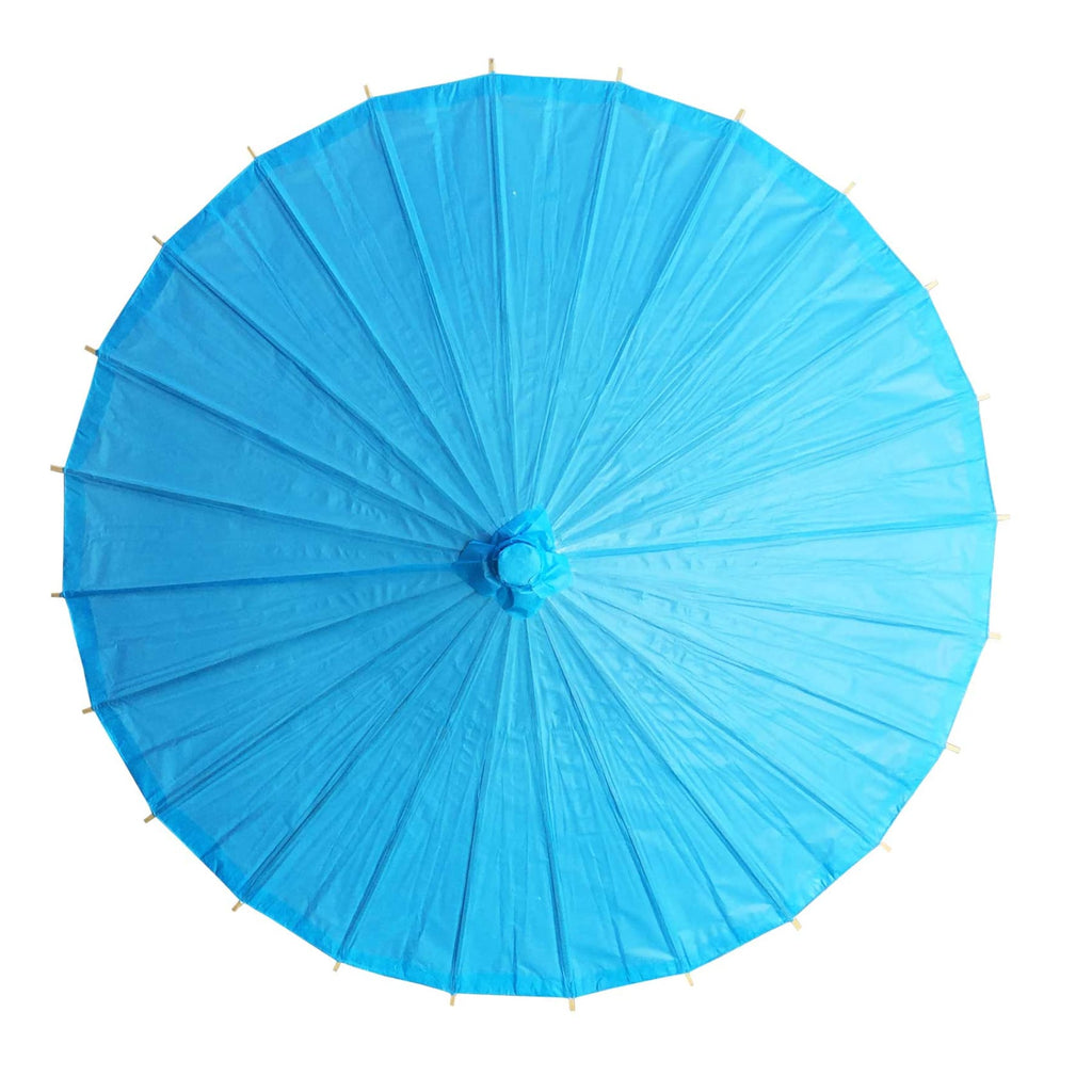 Willow Tree Bamboo Paper Parasol 84 cm Blue