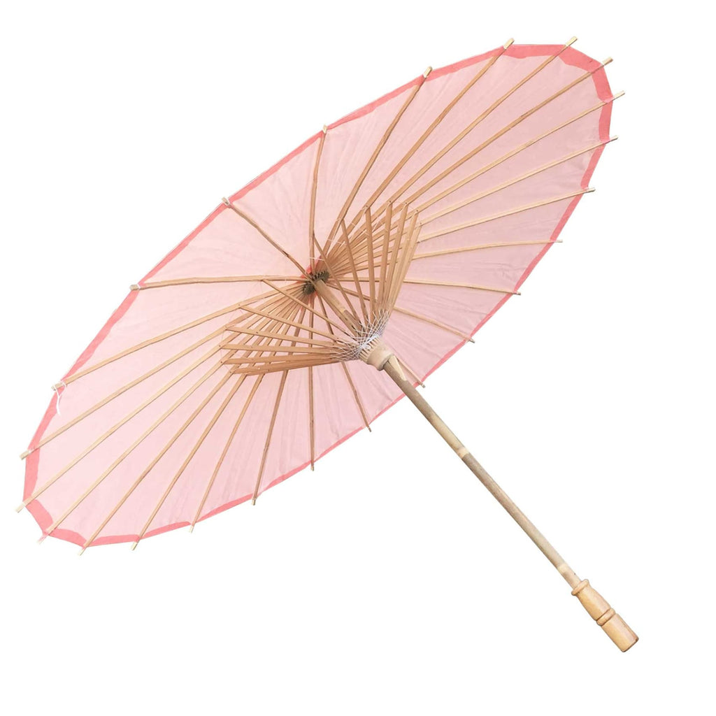 Willow Tree Bamboo Paper Parasol 84 cm Pink