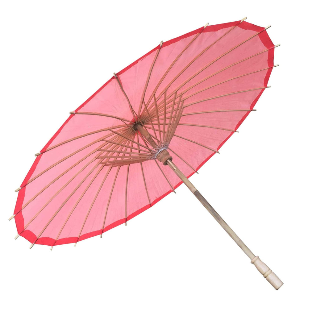 Willow Tree Bamboo Paper Parasol 84 cm Red