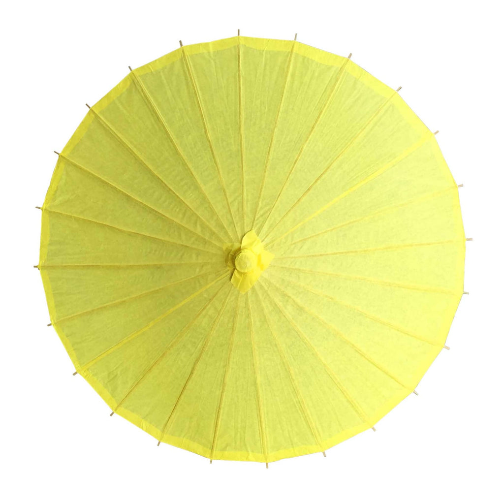 Willow Tree Bamboo Paper Parasol 84 cm Yellow
