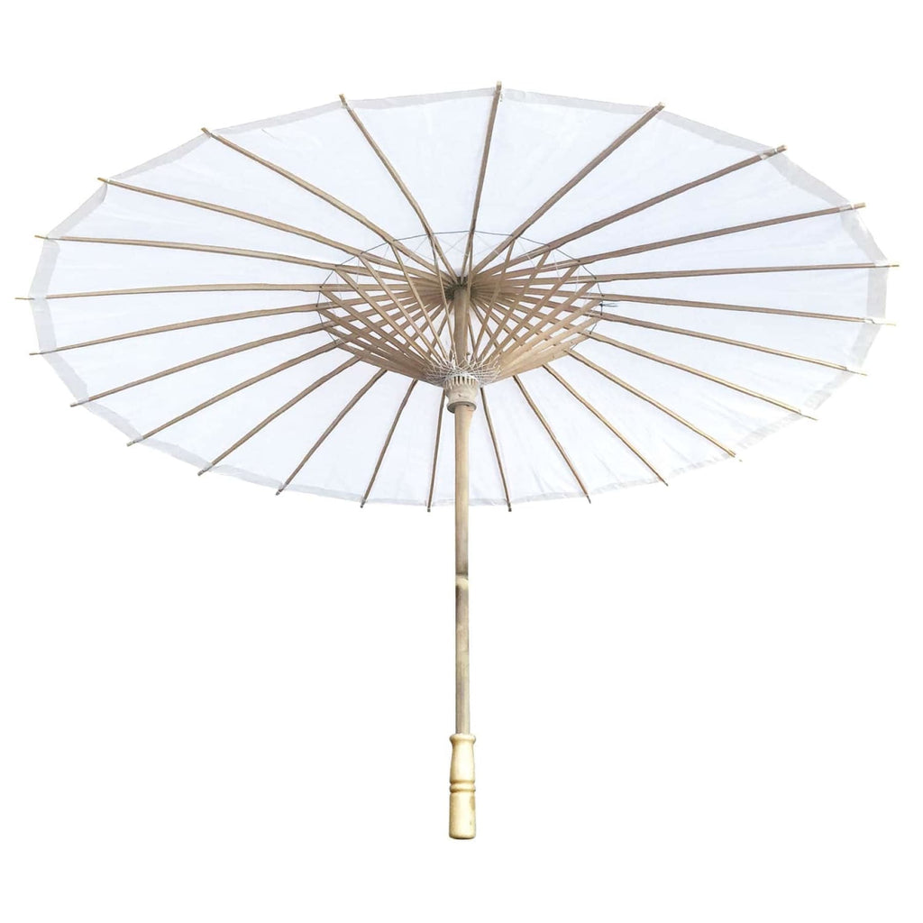 Willow Tree Bamboo Paper Parasol White