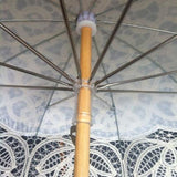 Willow Tree Cotton Battenburg Lace Wedding Parasol Ivory Umbrella.