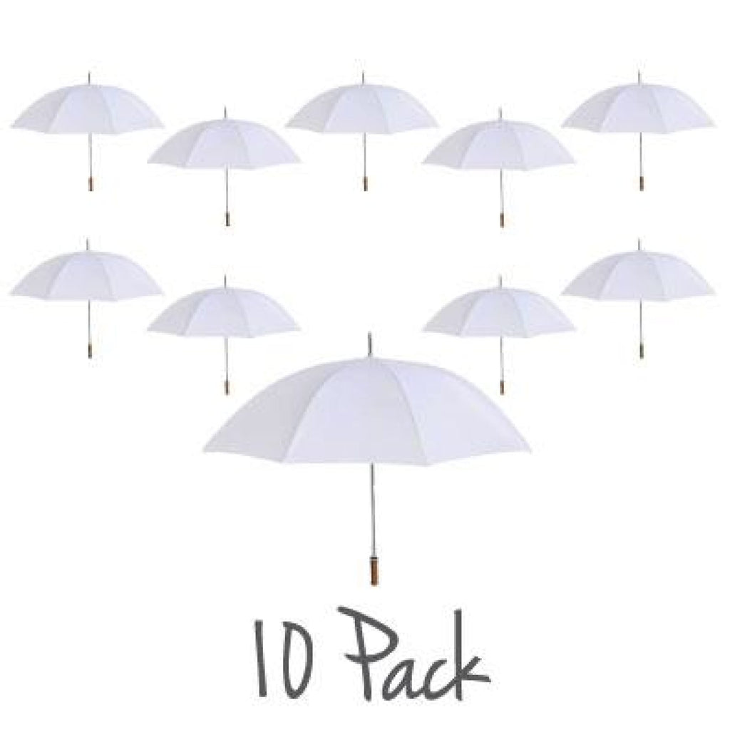 Willow Tree Large Straight Classic Golf Wedding White 10 Pack