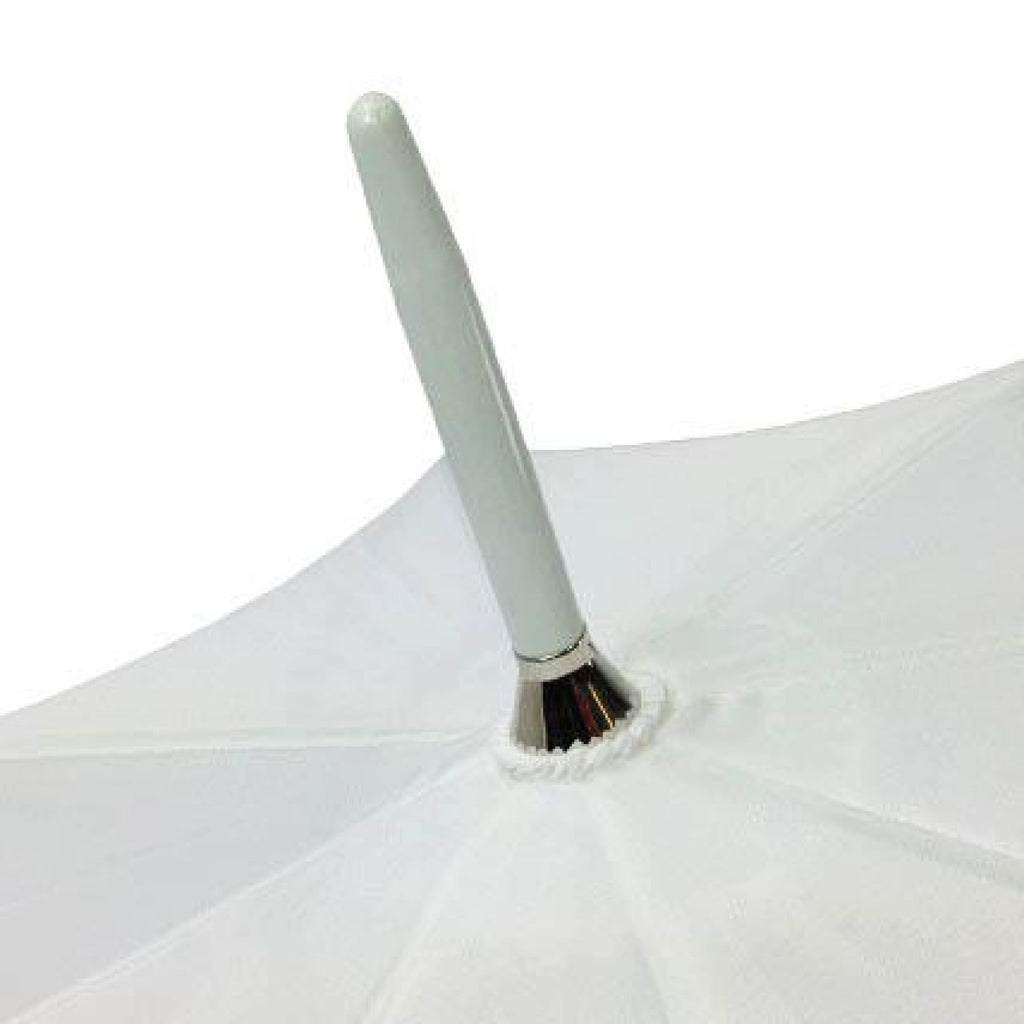 White Wedding Auto Umbrella