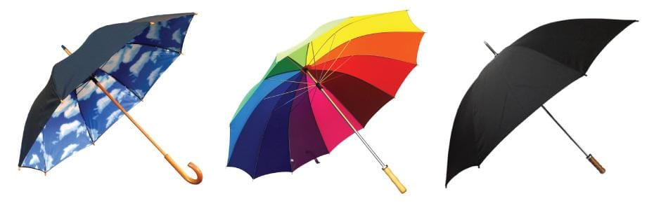 What's the difference between parasols and umbrellas?