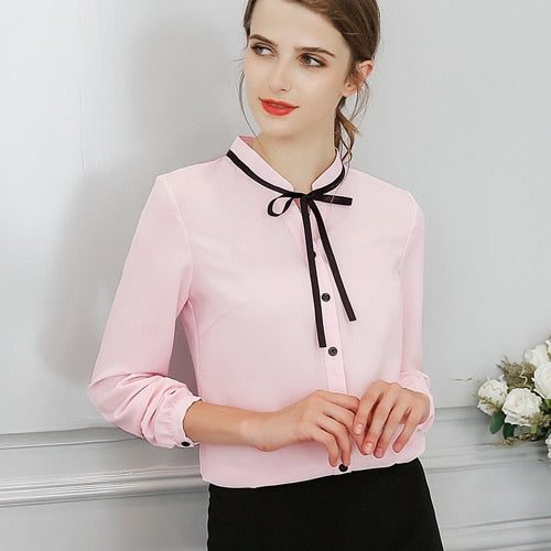Office Chiffon Long Sleeve - JulesFashions