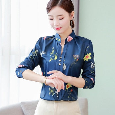 Office Ladies Button Casual Shirt - JulesFashions