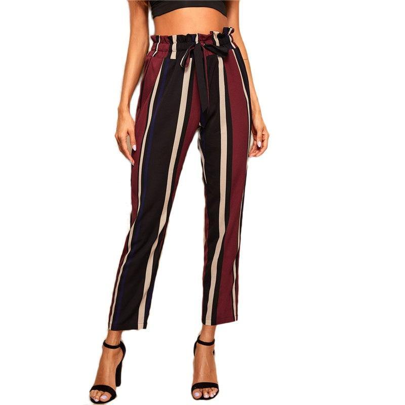 After Hours Striped Pants - JulesFashions