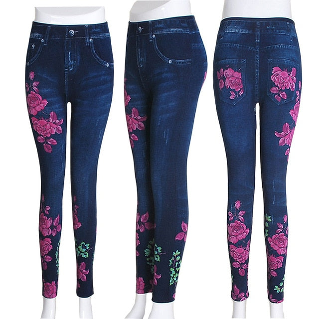 Long Pocket Printing Pencil Pants - JulesFashions
