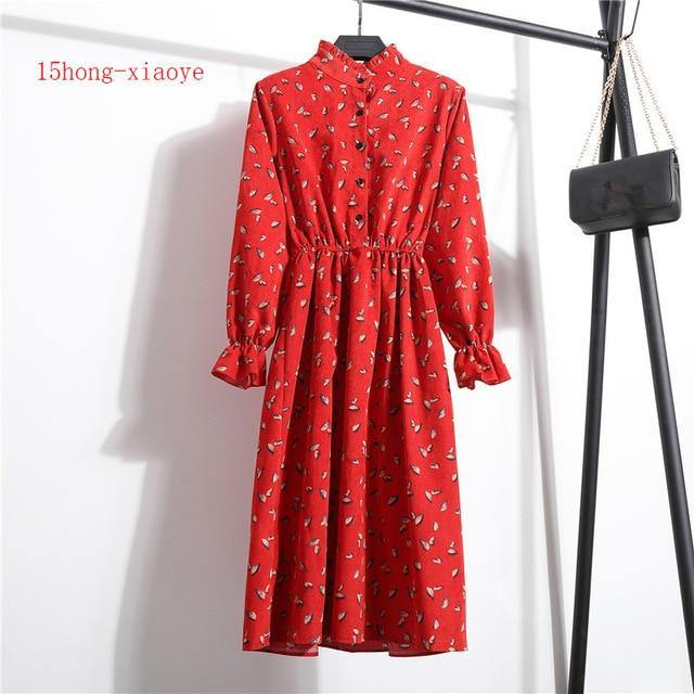 Women Kawaii Dress Vintage Long Sleeve - JulesFashions