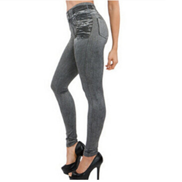 High Waist Jeans Woman High Elastic plus size Stretch Jeans - JulesFashions