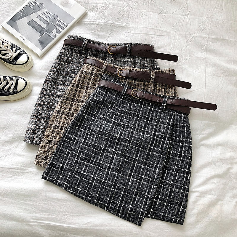 Vintage Casual Women Plaid Skirt - JulesFashions