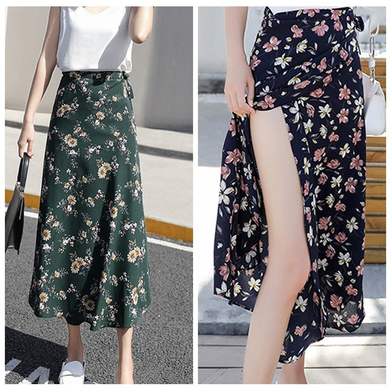 Casual Skirts Floral Design - JulesFashions