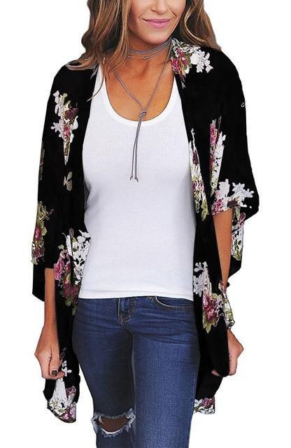 Lost For Words Floral Kimono - JulesFashions