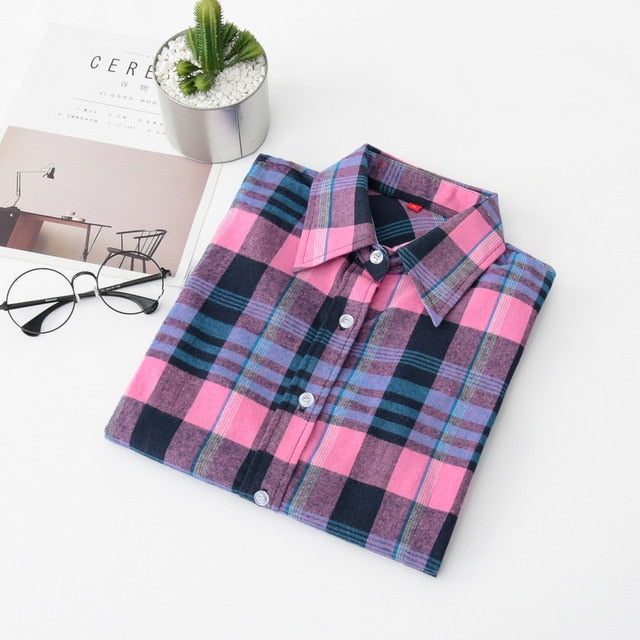 Excellent Quality Flannel Red Plaid Shirt - JulesFashions