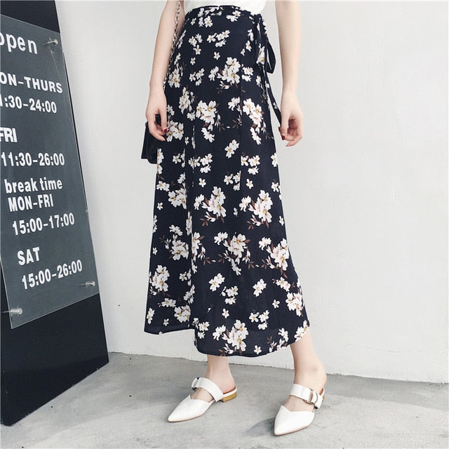 High Waist Floral Print Skirts - JulesFashions