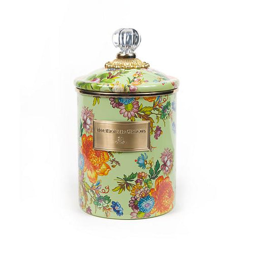 Flower Market Medium Canister - Green