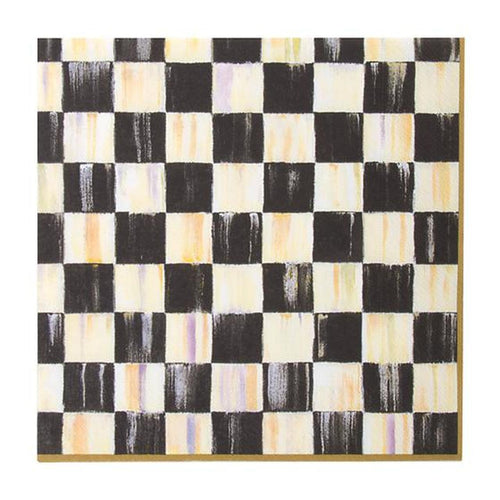 Courtly Check Paper Napkins - Luncheon - Gold