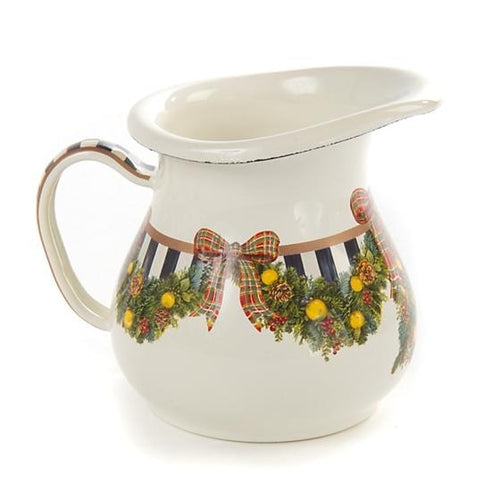 Evergreen Enamel Creamer