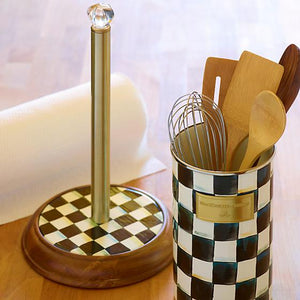 Courtly Check Wood Paper Towel Holder