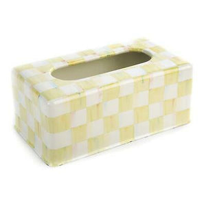Parchment Check Standard Tissue Box Holder