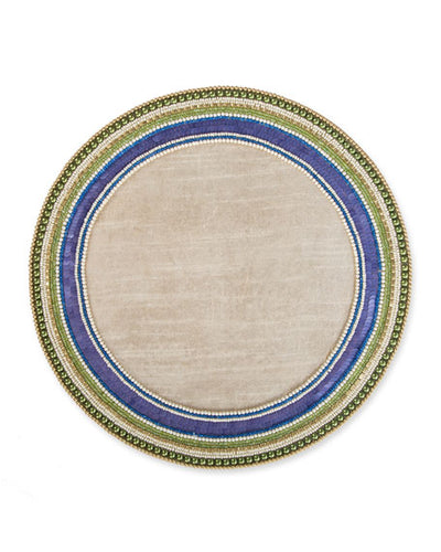 Jeweled Circle Placemat - Thistle