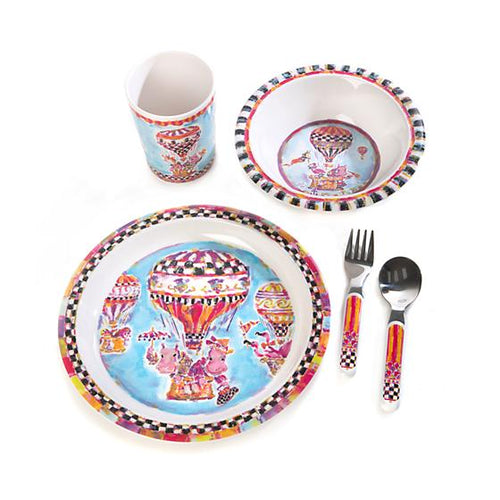 Toddler's Dinnerware Set - Hip Hip Away
