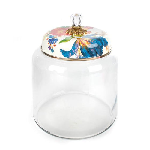 Flower Market Storage Canister - White - Big