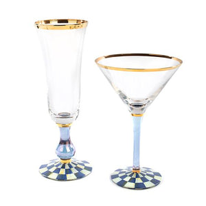 Royal Check Champagne Flute