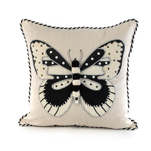 Butterfly Pillow - Black & White