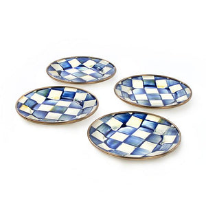 Royal Check Canape Plates - Set of 4