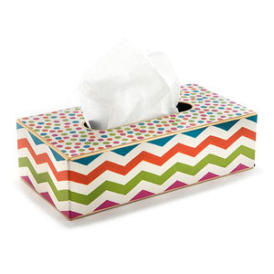 Trampoline Standard Tissue Box Cover - White