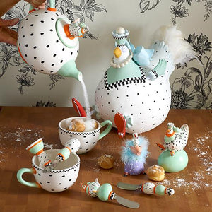Patience Brewster Speckled Chicken Teapot