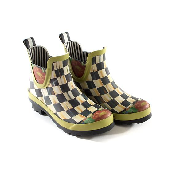 Courtly Check Rain Boots - Short - Size 10