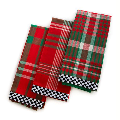 Merry Christmas Dish Towels - Set of 3