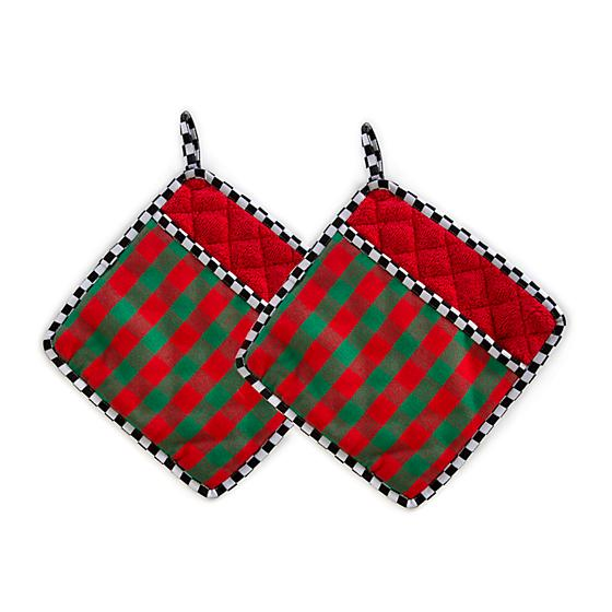 Merry Christmas Pot Holders - Set of 2
