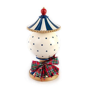 Royal Check Lidded Urn - Small