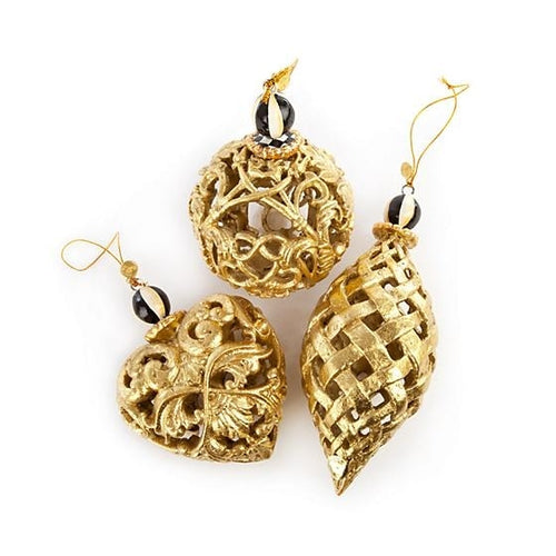 Golden Hour Filigree Ornaments - Set of 3