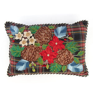 Tartan Bouquet Lumbar Pillow
